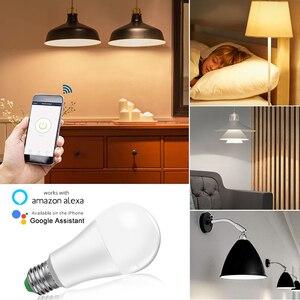 Image 3 - 85 265V E27 LED מנורת RGB 15W Bluetooth Wifi APP שליטה חכם הנורה 10W RGBW RGBWW אור הנורה IR שלט רחוק בית תאורה
