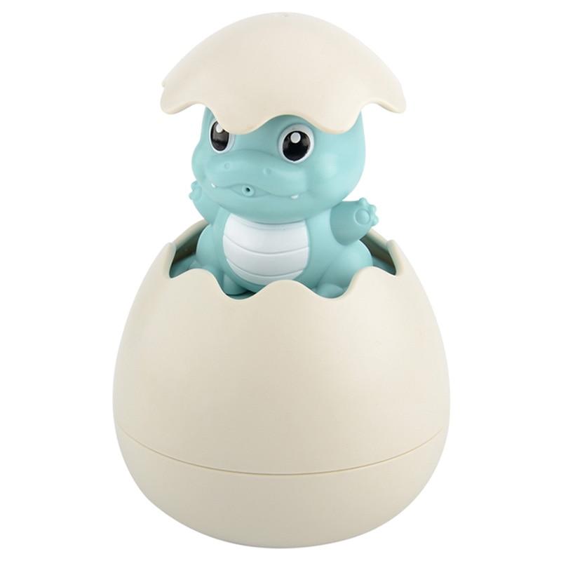 Baby Bathing Toy Kids Cute Dinosaur Egg Water Spray Sprinkler Bathroom Sprinkling Shower Swimming Water Toys Kids Gift,Blue