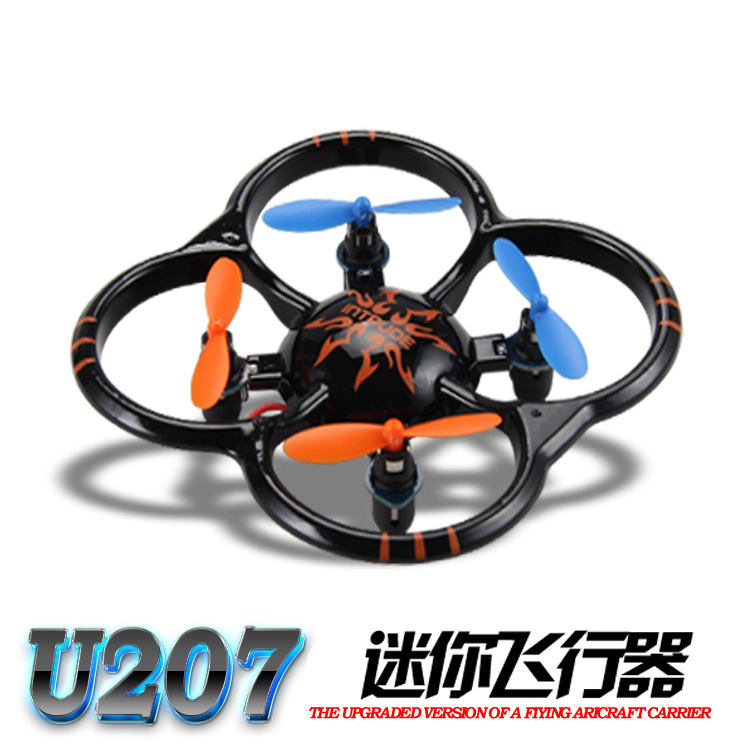 Aegirine-Augite U207 Mini Remote-control Four-axis Aircraft UFO Charging Remote-controlled Unmanned Vehicle With Protection Remo