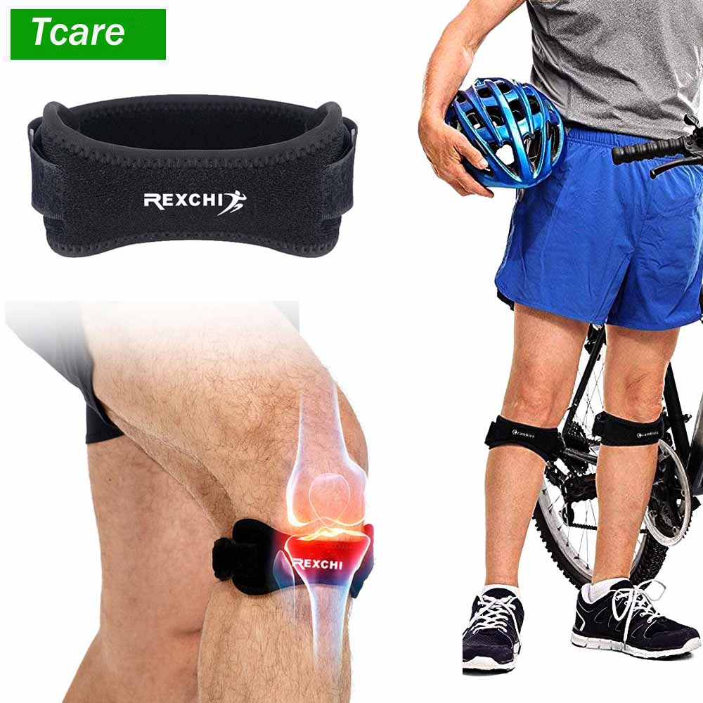 1Pair Knee Pain Relief & Patella Stabilizer Knee Strap Brace Support For Hiking Soccer Basketball Running Jumpers Knee Tennis
