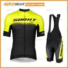 Camisa de manga curta masculina conjunto 2020 scottes rc verão ciclo roupas ao ar livre pro equipe uniforme ropa de ciclismo hombre secagem rápida