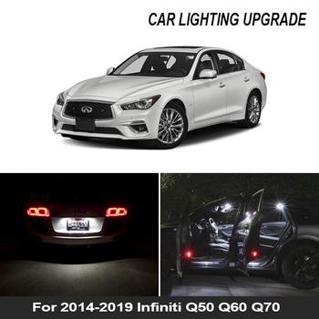 12x biała żarówka światła samochodowe LED zestaw do wnętrz 2014-2019 Infiniti Q50 Q60 Q70 mapa Dome bagażnika schowek na rękawiczki lampa tanie i dobre opinie BADEYA CN (pochodzenie) oświetlenie tablicy rejestracyjnej 300LM Festoon-31mm 12 v WHITE Uniwersalny High Quality 5730 SMD LED Bulb