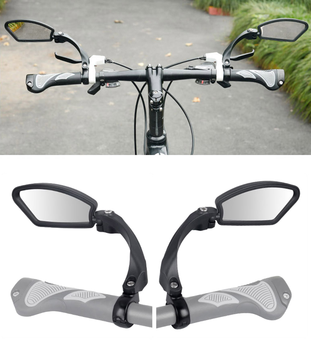 Bicycle Mirror 360 Degree Rotate MTB Road Bike Rearview Handlebar Mount Flexible Safety Cycling Back Mirror Folded Blind BC0124 (2)