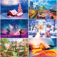300 Piece Puzzle Aestheticism Scenery Painting Children Creative Mental Stress Relief Puzzle Toys Puzzles for Kids