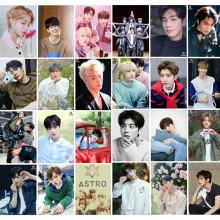 16 Pcs Koreaanse Kpop Astro Photocard Album Zelf Gemaakt Papier Lomo Kaart Fotokaart Fans Gift Collection Briefpapier Set Kpop stickers(China)