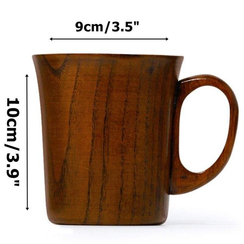 Горячая Распродажа, твердая кружка для ююбика, деревянные кофейные пивные кружки, деревянная чашка ручной работы, чайная чашка с ручкой, наб