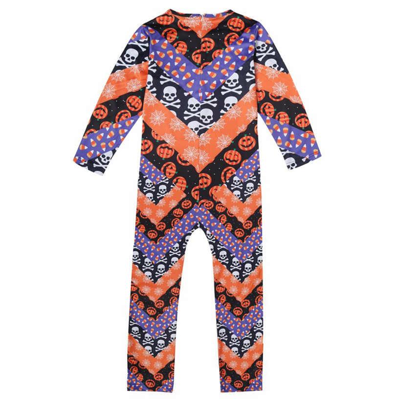 ฮาโลวีนเครื่องแต่งกายสำหรับเด็ก Cosplay เสื้อผ้าหน้ากากน่ากลัว Ghost ฟักทองเสื้อผ้าสำหรับชาย 5-14Y