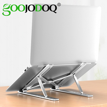 GOOJODOQ Laptop Stand for MacBook Pro Notebook Stand Foldable Aluminium Alloy Tablet Stand Bracket Laptop Holder for Notebook