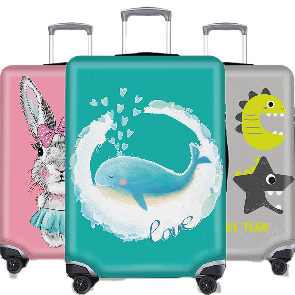 3D Animal Luggage Cover Blue Protective Case Thicken Waterproof Bouncy Travel Suitcase Cover Accessorie 18-32 Inche Husky XL