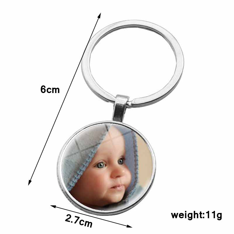 Personalized Photo Pendants Custom Keychain Photo Of Your Baby Child Mom Dad Grandparent Loved One Gift
