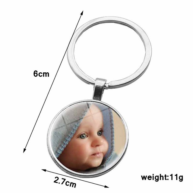 Personalized Photo Pendants Custom Keychain Photo Of Your Baby Child Mom Dad Grandparent Loved One Gift For Family Member Gift 5
