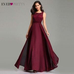 Image 1 - Ever bonito vestidos de noite lindo formal em torno do pescoço laço longo sexy vermelho feminino festa 2020 ep08352 ocasião especial vestido de festa