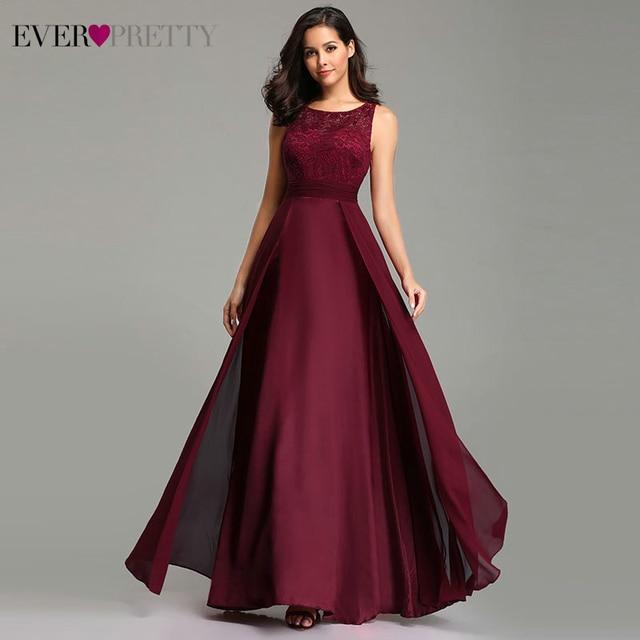 Ever bonito vestidos de noite lindo formal em torno do pescoço laço longo sexy vermelho feminino festa 2020 ep08352 ocasião especial vestido de festa