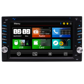 Double Din Car Stereo with Bluetooth Radio In Dash Head Unit 2 Din Autoradio 6.2 inch Touch Screen CD Player Video FM/AM/RDS image
