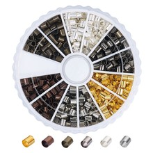 Tube-End-Cap Metal Jewelry-Making-Supplies DIY for 1-Box Stopper Bead-Cord-Cover Crimp-Beads