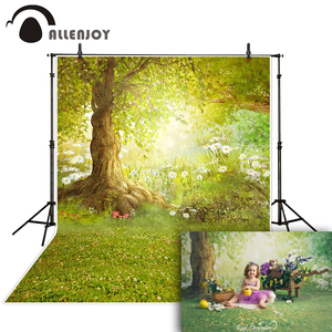 Image 3 - Allenjoy Spring Photography Backdrops Easter Grass Ivy Park Wooden Wall Background For Photo Studio Photocall Photophone Fond