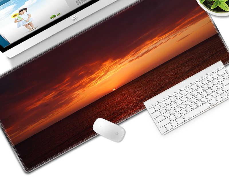 700X300 Mm Kecepatan Keyboard Mat Matahari Terbenam Besar Mouse Pad Karet Mousepad Gaming Meja Tikar untuk Pemain Game Desktop pc Komputer Laptop