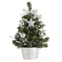 Mini árbol de Navidad Artificial de mesa decoraciones para árboles de Navidad, Festival, plantas en miniatura de 20 Cm, hogar, Hotel, fiesta, regalo
