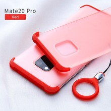 XUNDD for HUAWEI Mate 20 Pro 20X lite Transparent phone case bumper protective cover shell matte frosted with strap