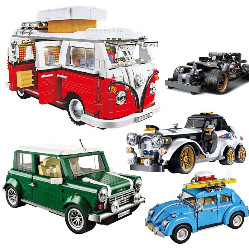 Building Blocks Fit Lepining 10252 1167Pcs Creator Series VW Vehicle Beetle Classic Retro Racing Technic Car Toys Adults Gifts
