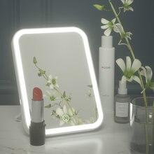 Светодиодное косметическое зеркало с подсветкой гибкое настольное