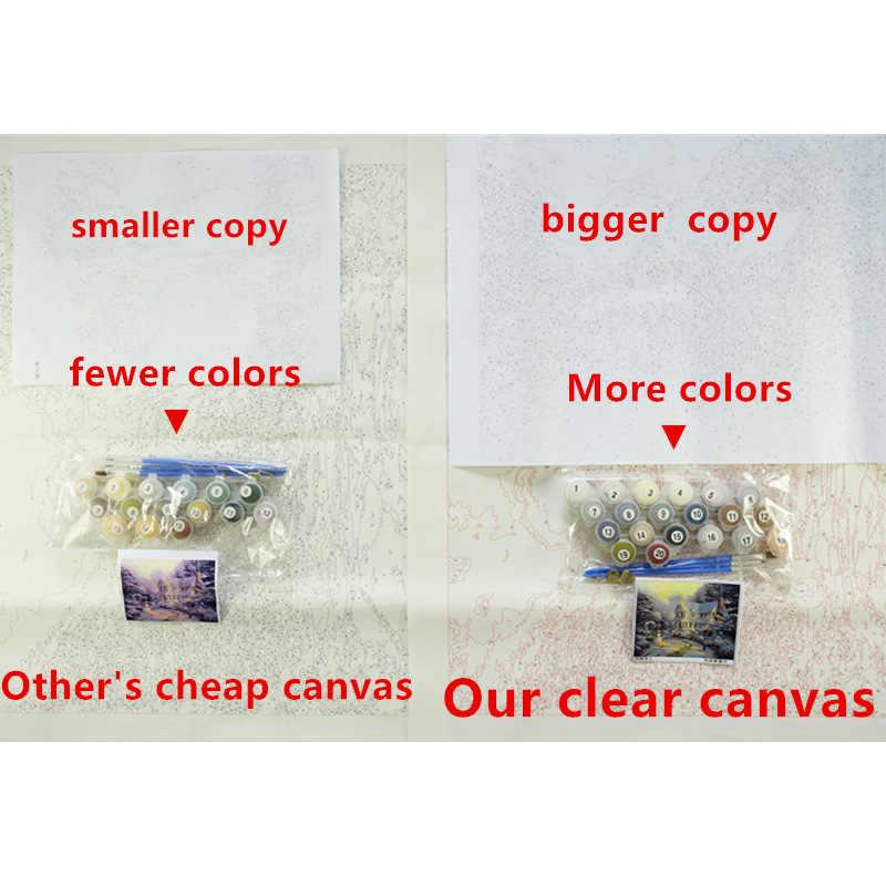 كبير ماوس الحيوان DIY الرقمية الطلاء بواسطة أرقام الحديثة لوحة زيتية جدارية هدية الكريسماس ديكور المنزل كبيرة الحجم