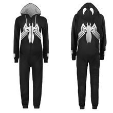 Wholesale Movie Anime Superhero Adult Unisex Venom Spider Cosplay Costumes Jumpsuit Sleepwear Halloween Party Cos Pajamas 2016 new arrival halloween costumes anime kyoukai no kanata hiroomi nase cosplay costume beyond the boundary unisex cos clothes