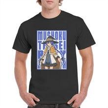 Camiseta de ROXY Insert Unisex, camisa de color azul, Harajuku, Mushoku, Tensei, sin trabajo, reencarnation, Anime, Top informal, grafic100 % algodón