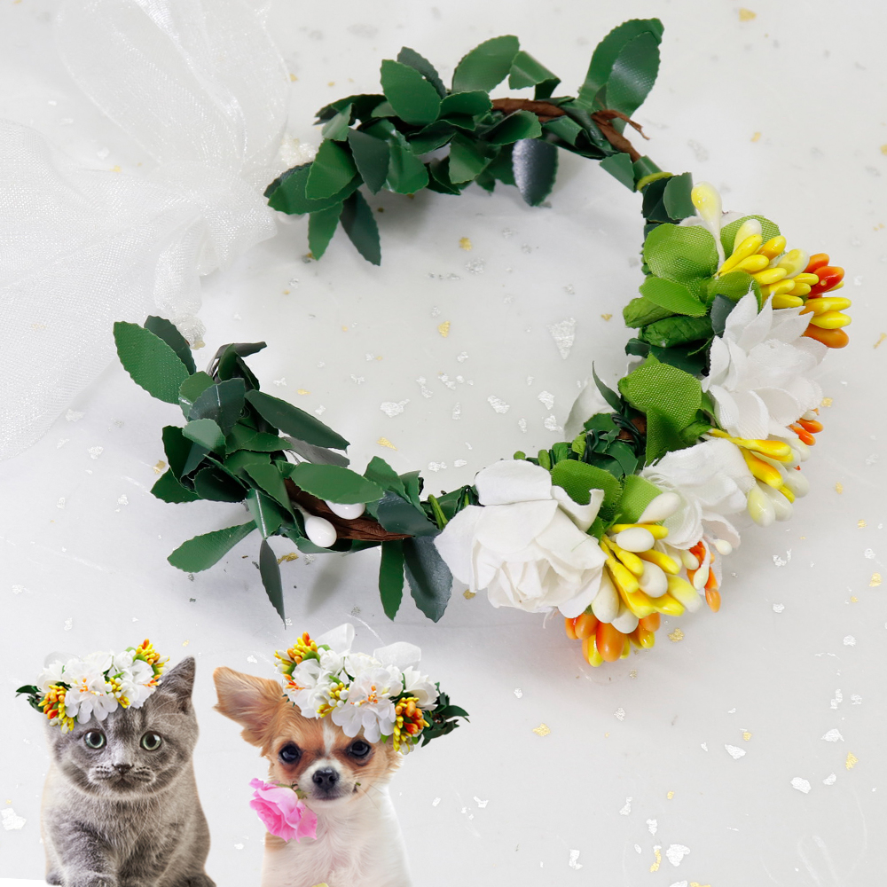 Cute Dog Cat Hat Outdoor Dogs Caps For Small Medium Dogs Cats Flower Decorative Kitten Puppy