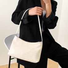 Women Leather Shoulder Bags Solid Color Vintage Bag