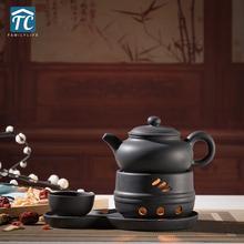 Tetera de cerámica Vintage calefacción Base porcelana de té gruesa taza calentador estufa tetera Base vela japonesa cálida