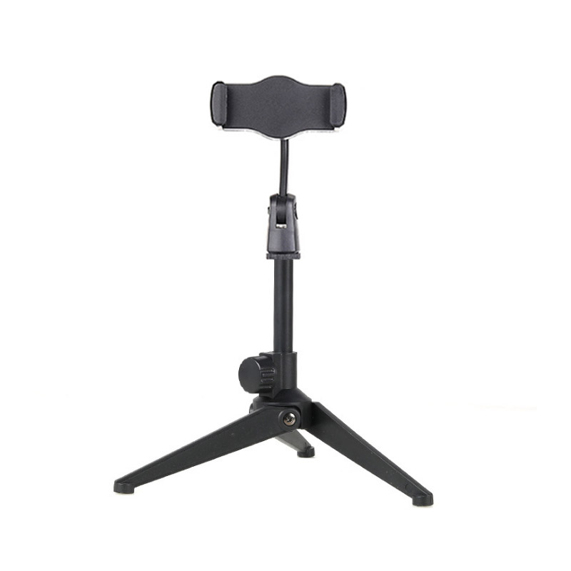 Microphone Stand Desktop Tripod Mini Portable Table Stand Adjustable Mic Stand Mic Clip Holder Bracket Lightweight Bracket 6