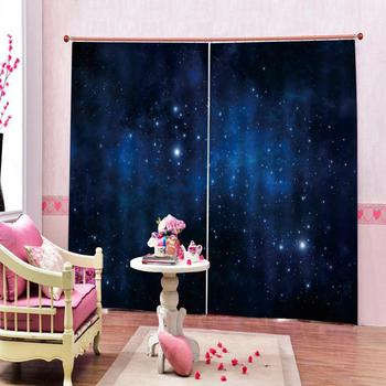 blue stars curtains Luxury Blackout 3D Window Curtains For Living Room Bedroom Customized size Blackout curtain