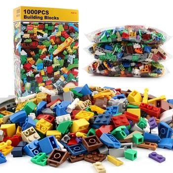 Bloques de juguete 1000 Uds conjuntos de bloques de construcción DIY ladrillos creativos juguetes amigos creador partes modelo Kits Brinquedos regalos educativos