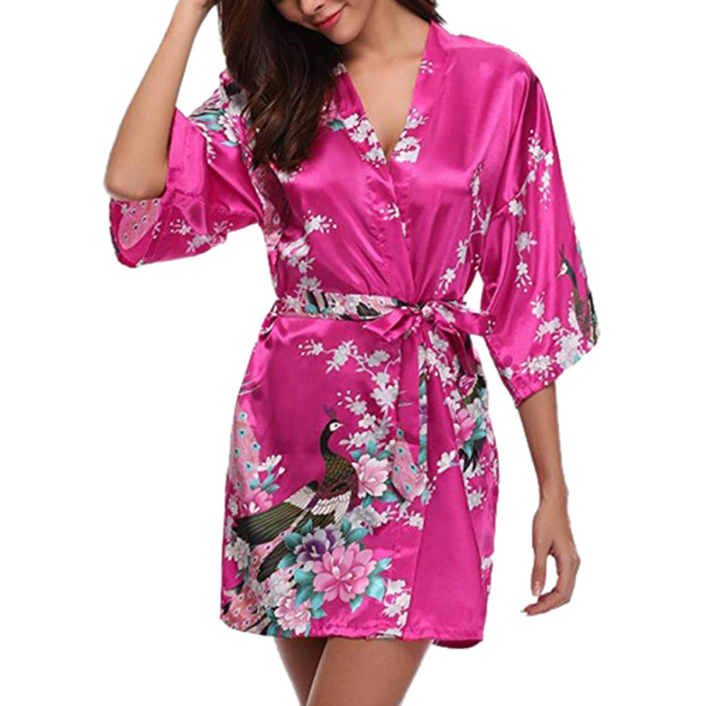 Women's Pajamas Silk Fashion Sexy Printing Pajama Set Satin Pyjamas Sexy Lace Temptation Belt Sleepwear Home Clothes