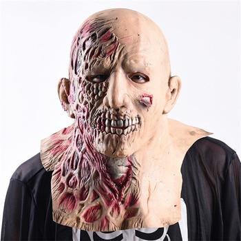 Bar Club Ktv Creepy Halloween Party Props Rotten Halloween Scary Mask Animated Spooky Halloween Mask Cosplay Zombie Skull Mask