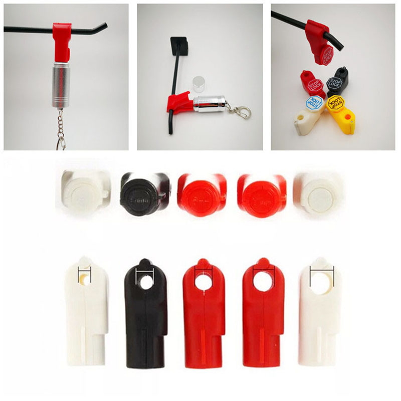 Anti-Theft-Stop Lock Security-Hook-Stem Store-Display Plastic for Peg 6mm 6mm title=
