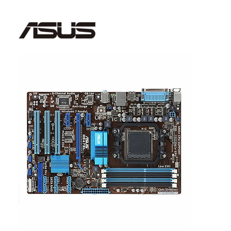For ASUS M5A78L Motherboard Socket AM3+ DDR3 For AMD 760G M5A97 970M FX Original Desktop Mainboard M5A78  Used Mainboard Motherboards     - title=