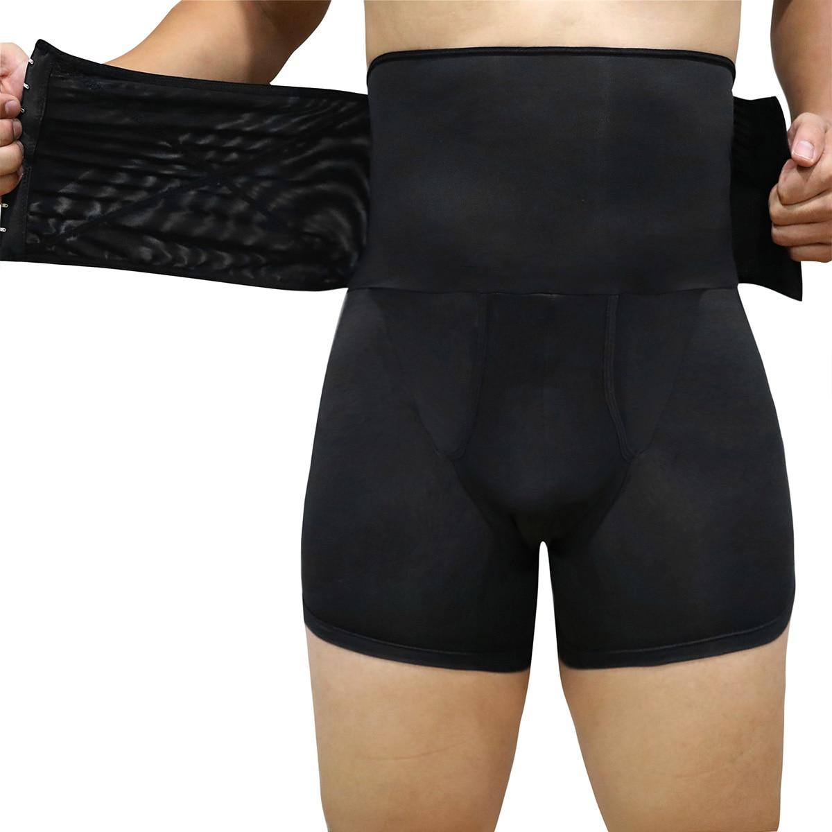 Butt Lifter Men Compression Shorts Body Shaper Slim Waist Control Panties Belly Trimmer Underwear