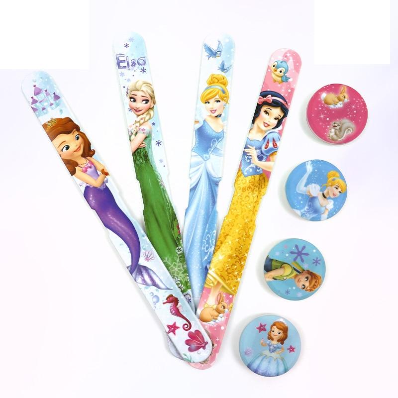 Disney Cartoon Digital Wristwatch Kids Luminous Aisha Sophie Sandy Snow White Watch LED Display Complete Calendar Silicone