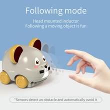 Animal dos desenhos animados carro gesto sensor de indução controle mão seguindo rc bonito rastreador carros brinquedo para meninas natal