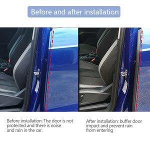 Image 3 - רכב דלת חותם רצועת גומי רכב דלת צד איטום Weatherstrip אוטומטי עמיד למים רעש בידוד איטום הגנת רכב אבזר
