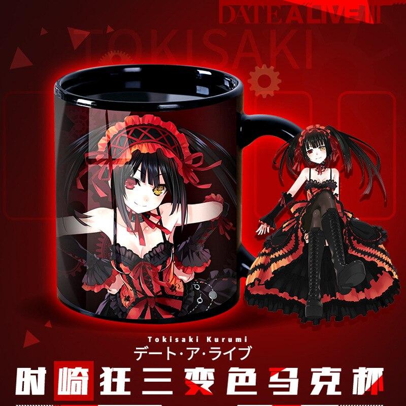 Japan Anime Date A Live Tokisaki Kurumi Nightmare Zafkiel Glass Cup