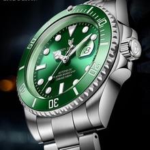 Watch Men Tourbillon-Clock Mechanical 100ATM Waterproof Sport Luminous Fashion Automatic