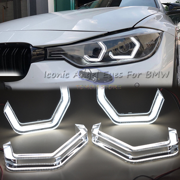 M4 style LED Angel Eyes For BMW M2 ME M5 F10 F12 F13 F18 F30 F31 F32 F33 F34 F35 F36 E46 Cabrio Coupe 2D auto accessory