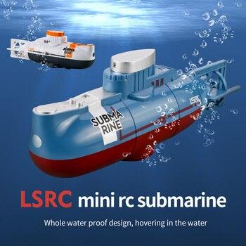 Mini rc submarino 6ch rádio controle submarino hover função brinquedo para aquário tanque de peixes usb recarregável crianças presente