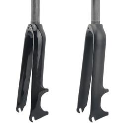 Brilhante/matte 3 k fibra de carbono dobrável bmx bicicleta garfo forquilhas dianteiras 14 16 18 20 22