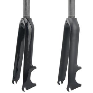 Глянцевая/матовая 3K Углеродное волокно складывающийся BMX Велосипедная вилка Передняя вилка для велосипеда 14 16 18 20 22