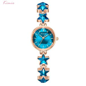 Image 4 - Kimio นาฬิกาข้อมือสุภาพสตรี Blue Star สร้อยข้อมือนาฬิกาผู้หญิงสายเล็กๆนาฬิกายี่ห้อผู้หญิงกันน้ำนาฬิกาข้อมือ 2019 ใหม่