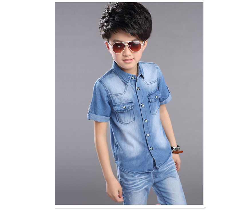Children Boys Clothing Sets Summer Denim Shorts Pants Sports Tracksuit For Kids Short Sleeve T Shirt Jeans Clothes Sets New 2020 2